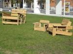 Festival International de Littérature FIL, installations pour la lecture en plein air dans le Quartier des Spectacles