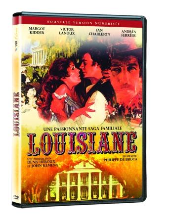 DVD Louisiane, cinéma vintage version restaurée numérisée. Film réalisé en 1984 par Philippe de Broca, produit par Denis Héroux et John Kemedy et sous la direction photo de Michel Brault Avec Margot Kidder et Victor Lanoux