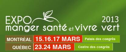 Expo Manger Santé et Vivre Vert 2013
