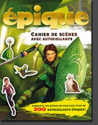 épique Cahier de scènes avec autocollants Éditions Broquet