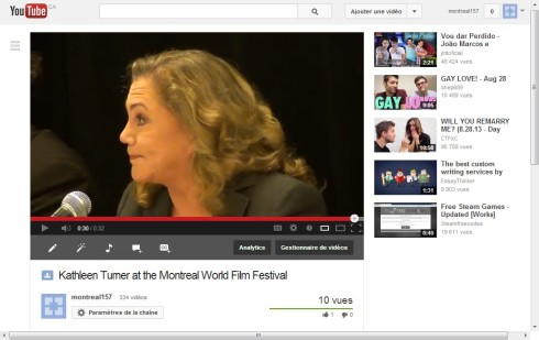 Kathleen Turner video youtube