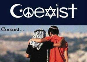COEXIST Le privilège de pouvoir adhérer à la religion ou à lorientation ci ou ça que lon veut n'amène que la guerre quand il y a de largent au bout du gros bout du bâton.