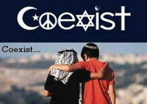 COEXIST Israel-Palestine, religions, orientations sexuelles, enragés de pouvoirs et d'argent