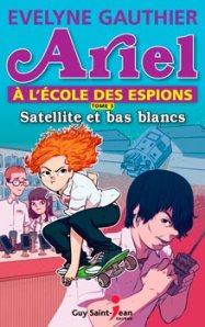 CODE VERT pour ce roman, troisième tome de la série Ariel à l'école des espions intitulé Satellite et bas blancs, d'Evelyne Gauthier, publié chez Guy Saint-Jean éditeur.