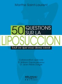 50 questions sur la liposuccion ainsi que La mort à ma table sont disponibles en librairie et à partir du site de Béliveau éditeur.