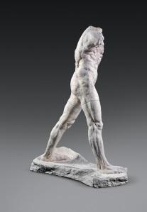 Auguste Rodin (1840-1917) « L'Homme qui marche.», grand modèle, 1907, plâtre patiné, Paris, musée Rodin  Copyright musée Rodin (photo Adam Rzepka)