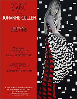 Vidéo du vernissage L'exposition DESTINS de Johanne Cullen, du 8 au 18 octobre à la Galerie d'art LOFT - 217, St-Laurent (au coin de St-Paul Est, Vieux-Montréal)